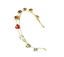 Multicolor hearts metallic headband