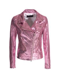 Leather Perfecto Jacket - Art. Parigi laminated pink