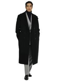 Coat - Art. YOUGEN V1AGWS90FW21-22 - BLACK CACHEMIRE