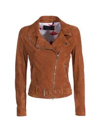 Suede Leather Perfecto Jacket - Art. Nizza tan