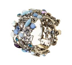 Blue snap bracelet