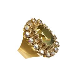 Adjustable Amber Stone Ring