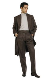 Jacket - Art. YARI V11AGT.37/79FW21-22 - - BROWN CHECK
