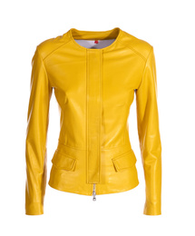 Genuine Leather Jacket - Art. Algeri yellow