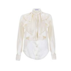Blouse - Art. Silk ruffle blouse