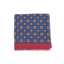 Scarf - Art. Cashmere Scarf with Classic Design in Blue and Burgundy.