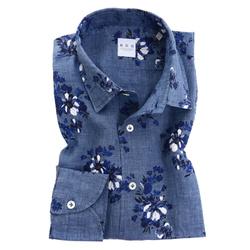 Shirt - Art. Lino Fantasy Flowers