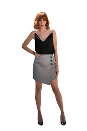 Fake wrap skirt - Art. Tulipano
