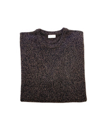 Round Neck Sweater - Art. Black & Brown