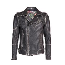 Leather Perfecto Jacket - Art. Rima black vintage