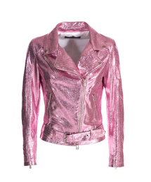 Leather Perfecto Jacket - Art. Nizza laminated pink