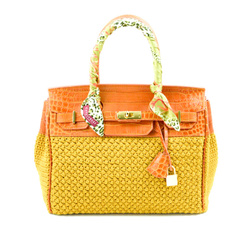 Shoulder Bag - Art. Dolly Bag Orange &Mustard Bags&Passion collection, a unique piece made entirely by hand.