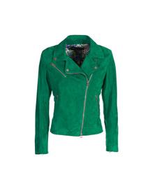 Leather Perfecto Jacket - Art. Parigi green suede