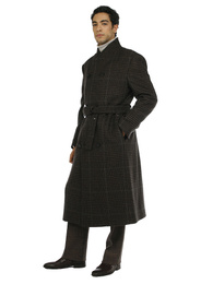 Coat - Art. YOROI V9AGT.80/90FW21-22 - BROWN CHECK
