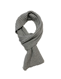 Ribbed Scarf - Art. Light Grey