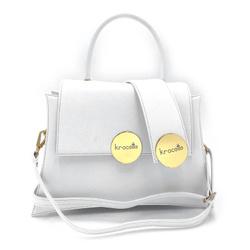 Shoulder Bag - Art. Gala Medium (White Gold)