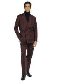 Suit - Art. REI SUIT V9AGT.24FW21-22 - BORDEAUX CHECK
