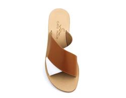 Sandals - Art. Solange Bianco e Cuoio
