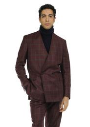 Jacket - Art. REI JACKET V9AGT.24FW21-22 - BORDEAUX CHECK