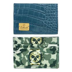 Cardholder - Art. Credit card holder Steel Blue and Camo/Clock Gray