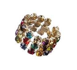 Three Rows Multicolor Bracelet