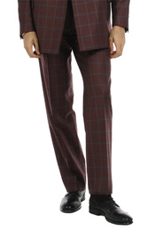 Trousers - Art. REI TROUSERS V9AGT.24FW21-22 - BORDEAUX CHECK