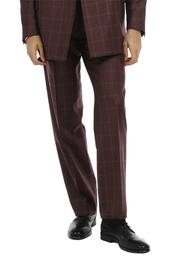 Pantaloni - Art. REI TROUSERS V9AGT.24FW21-22 - BORDEAUX CHECK