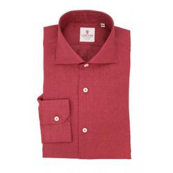 Shirt - Art. Linen Bordeaux