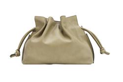 Medium Cloud clutch bag in smooth natural grain calfskin