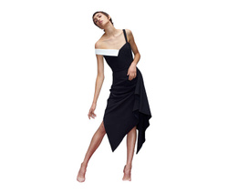 Dress - Art. Avaro Figlio Asymmetric Black