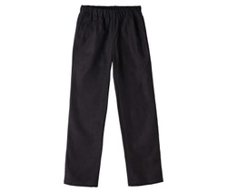 Cotton/Linen Black Trousers