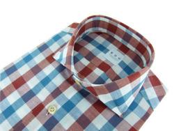 Shirt - Art. Check Shirt Red White and Blue