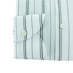 Shirt - Art. White Green Striped Polo Shirt