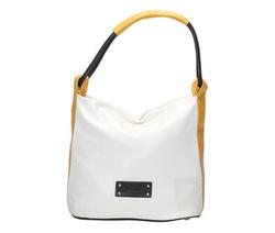 Shoulder Bag - Art. City Vitello Ghiaccio Black And Yellow