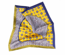 Art. Yellow Silk Double Face Pocket Square