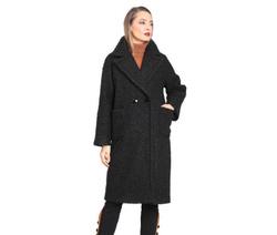 Art. Black Bouclè Coat