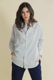 Kimono Shirt in cotton Canvas