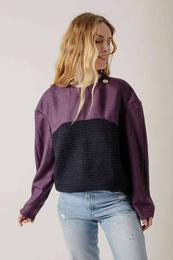 Geometric Sweater in Mixed Wool