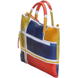 Handbag - Art. Acquerello Blu Geometrico