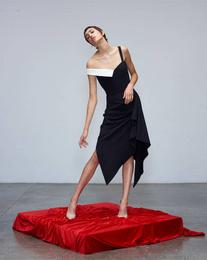 Dress - Art. Avaro Figlio Asymmetric Black