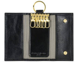 Art. Leather Key Holder 6 Hooks With Leather Button