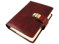 Art. Agenda With Leather Tabs, Notes and Rubrica
