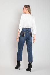 Art. Simil-leather Jeans