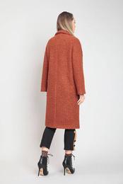 Art. Brown Bouclè Coat