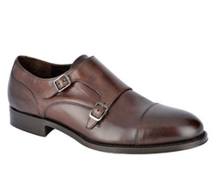 Brown Monk Stripes Shoes - Art. 8807