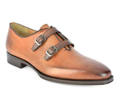 Light Brown Monk Stripes Shoes - Art. 8810