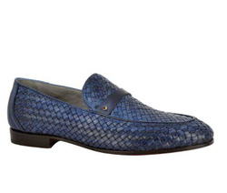 Blue Loafers Shoes - Art. 8956