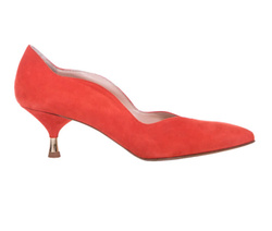 Red Decollete Shoes - 4506