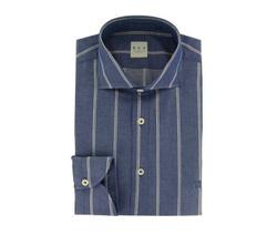 Shirt - Art. Blue Polo Shirt Striped White