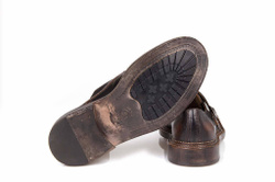 Dark Brown Monk Stripes Shoes - Art. 102